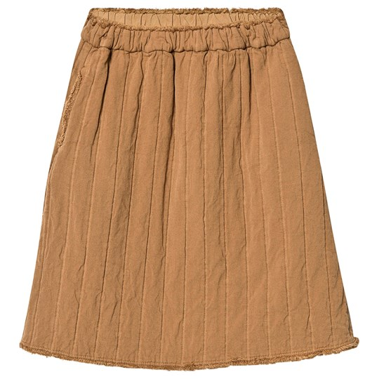 Little Creative Factory Camel Quilted Frayed Detail Skirt Camel