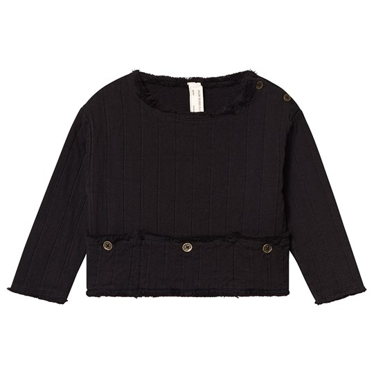 Little Creative Factory Quilted Frayed Detail Jumper Black Black