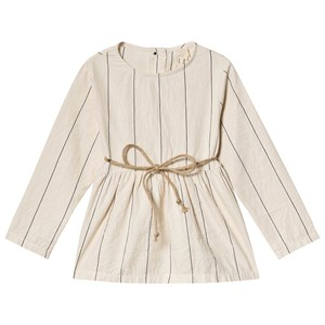 Little Creative Factory Stribet BomuldsBluse Cream 6 years