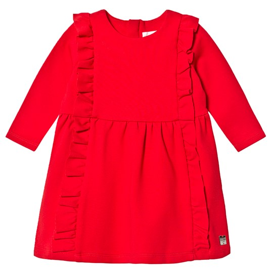 Carrément Beau Milano Frill Dress Red 97E
