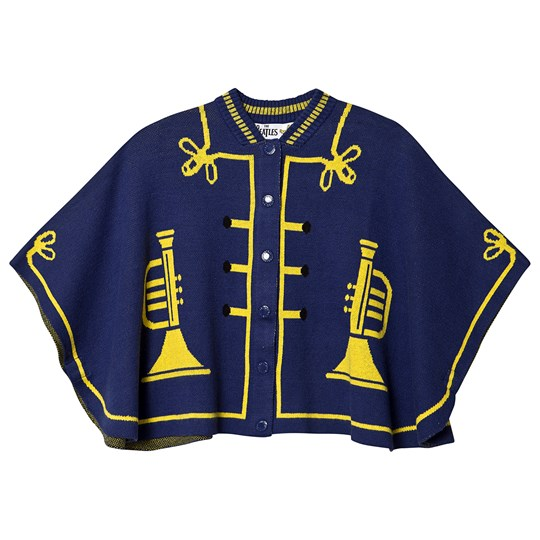 Stella McCartney Kids Navy Trumpet Embroidered Cape 4100