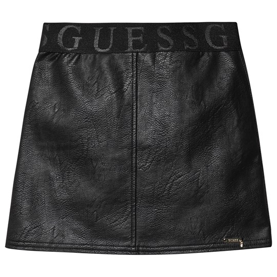 Guess Faux Leather Skirt Black JBLK