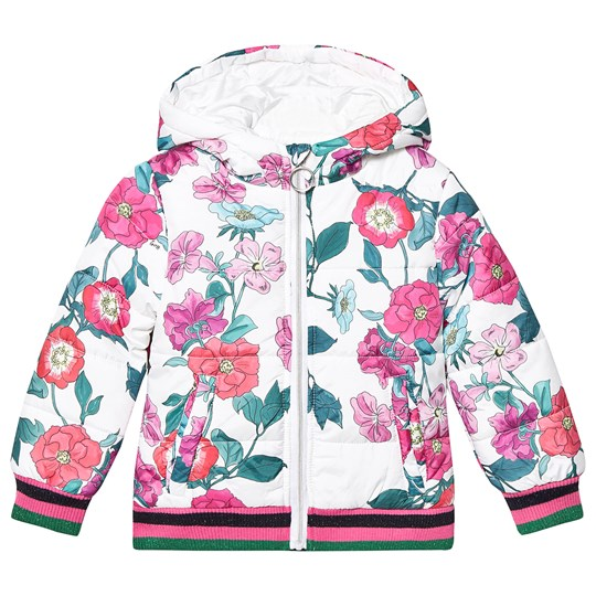 Guess Padded Floral Jacket White PB42