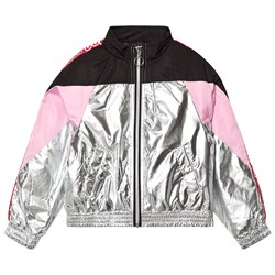 Guess Logo Contrast Jacket Silver