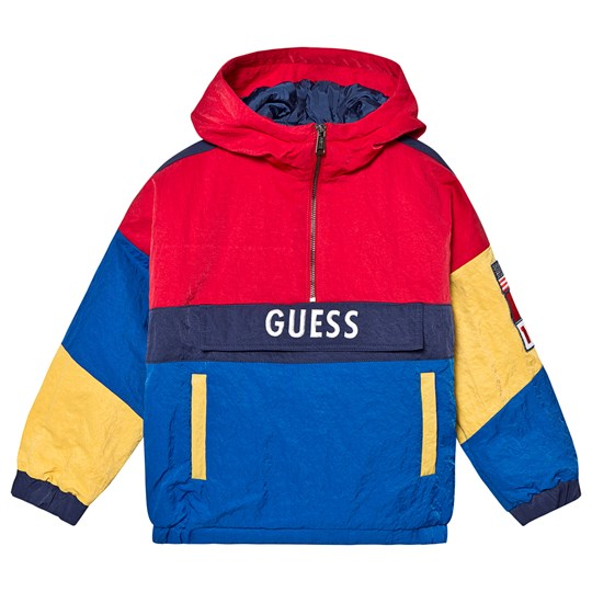 Guess Logo Contrast Jacket Blue and Red L768