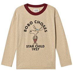 Bobo Choses The Moose T-Shirt Pebble