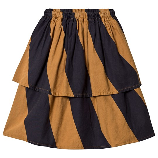 Bobo Choses Big Stripes Midi Nederdel i Brun Sudan Brown