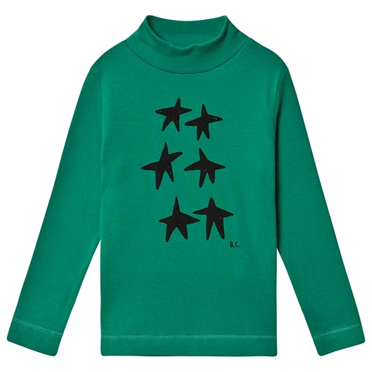 Bobo Choses Stars Turtleneck Top Peppergreen Peppergreen