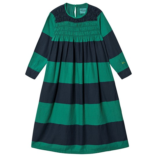 Bobo Choses Big Stripes Flounce Dress Peppergreen Peppergreen