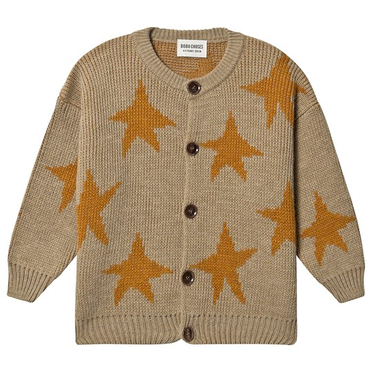 Bobo Choses Stars Jacquard Cardigan Pebble Pebble