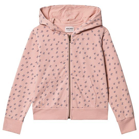 Bobo Choses Stars Zip Hoodie Mellow Rose Mellow Rose