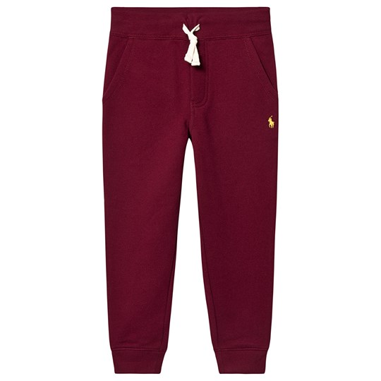 Ralph Lauren Polo Player Sweatpants Burgundy 002