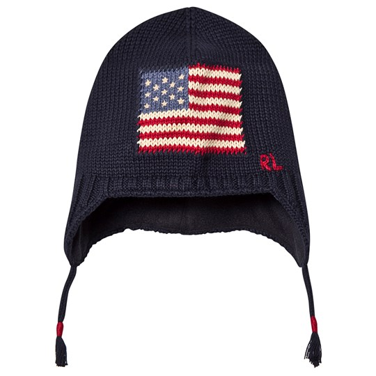 Ralph Lauren Flag Ear Flap Hat Navy 001