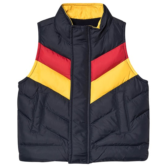 Velveteen Marty Gilet Navy/Red/Yellow NNY