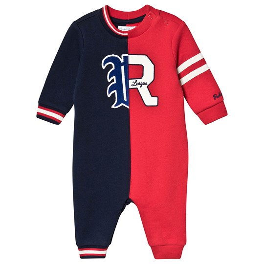 Ralph Lauren Logo One-Piece Red/Navy 001