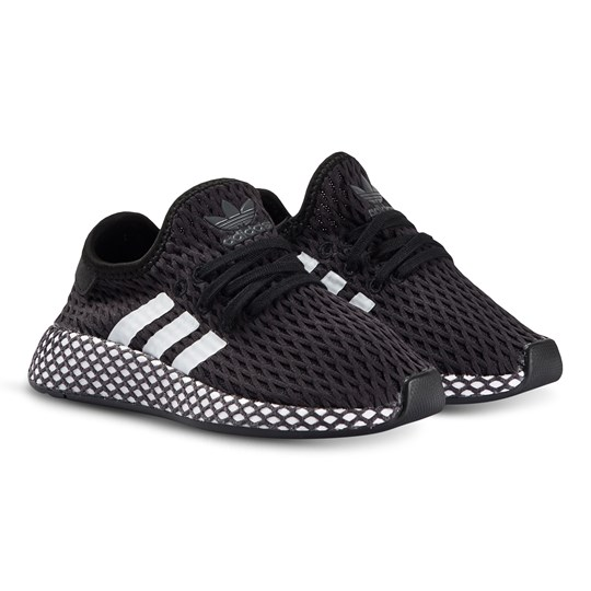 adidas Originals Black & White Deerupt Runner Trainers CBLACK/FTWWHT/GREFIV