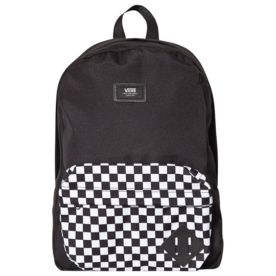 Vans New Skool Checkerboard Backpack Black 2OB1
