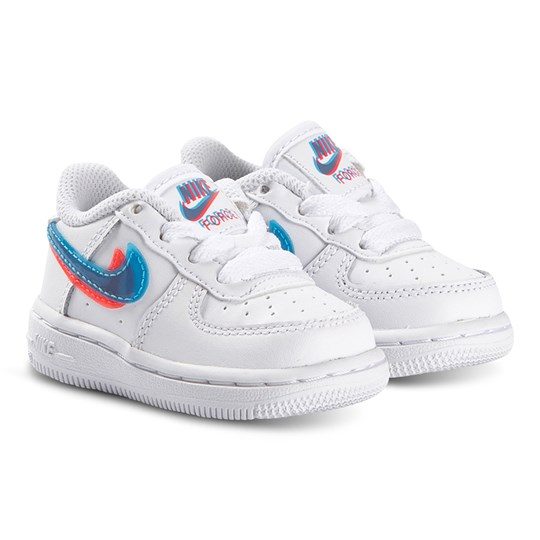 NIKE Nike Force 1 LV8 3D Swoosh Logo Infant Sneakers White 100