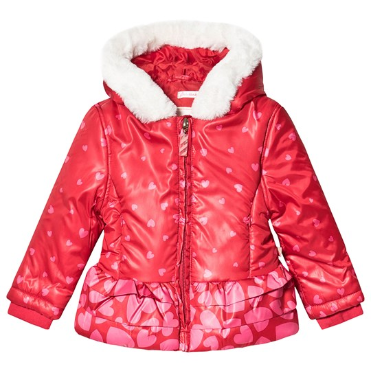Billieblush Heart Coat Red 97G