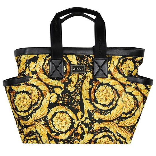 Versace Black and Gold Baroque Print Changing Bag YSGBO