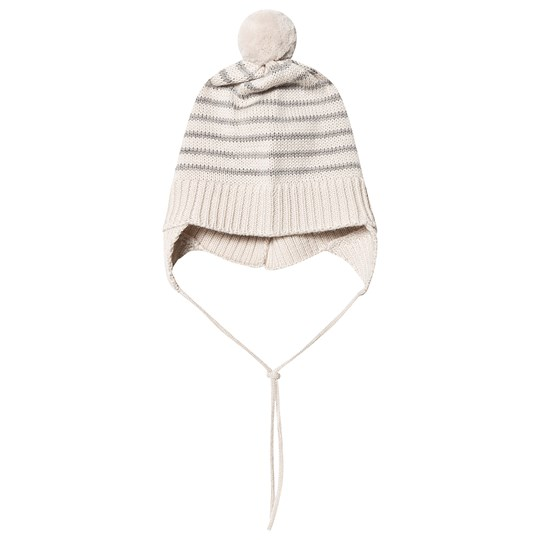 FUB Baby Pom-Pom Hat Ecru/Light Grey ecru light grey