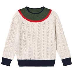 FUB Cable Knit Sweater Ecru