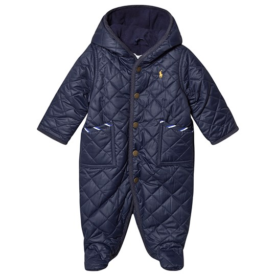 Ralph Lauren Quilted Footed Coverall Navy 001