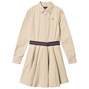 Image of Ralph Lauren Polo Player Belted Kjole Tan 7 years (1478833)