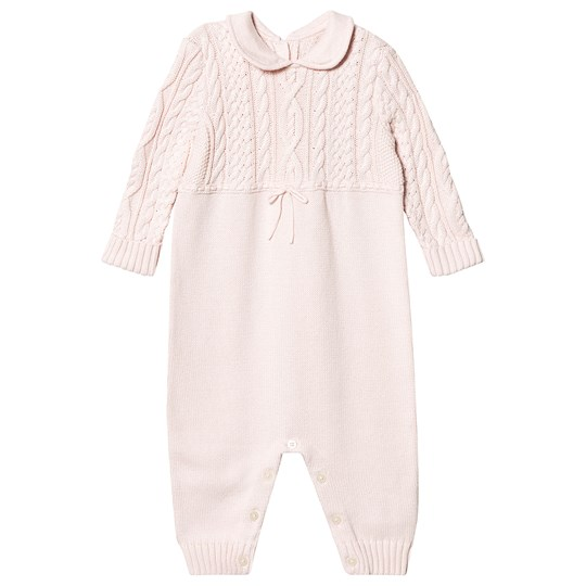 Ralph Lauren Cable Knit Onesie Pink 003