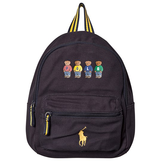 Ralph Lauren Embroidered Bear Mini Backpack Navy 001