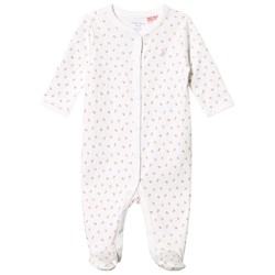Ralph Lauren Floral Footed Baby Body Hvid