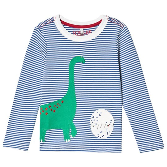 Tom Joule Dino Egg Applique Long Sleeve T-Shirt BLUE DINO EGG