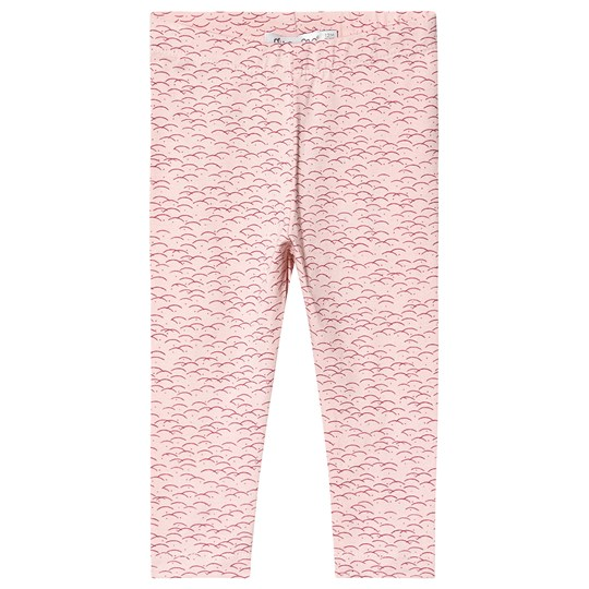 Minymo Printed Leggings Silver Rosa Silver Pink