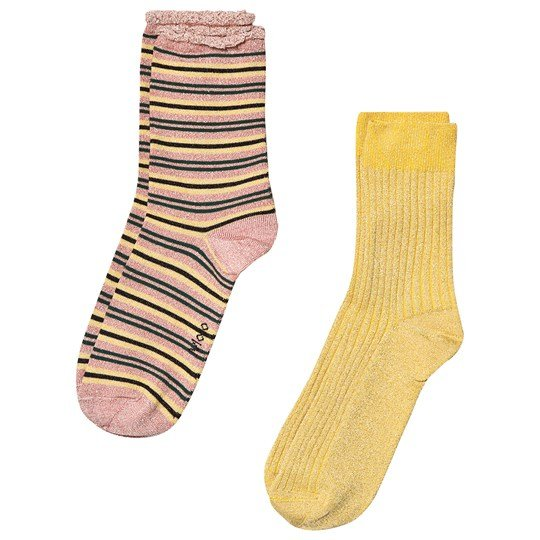 Molo 2-Pack Nomi Socks Gold Gold