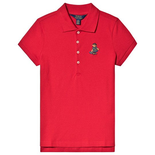 Ralph Lauren Red Polo with Beret Bear 002