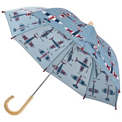 Hatley Paper Planes Umbrella Blue