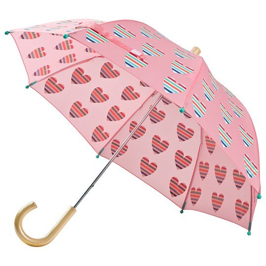 Hatley Multicolor Hearts Paraply Rosa Pink