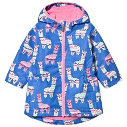 Hatley Microfiber Raincoat Alpacas Blue