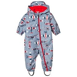 Hatley Microfiber Coverall Paper Planes Blue
