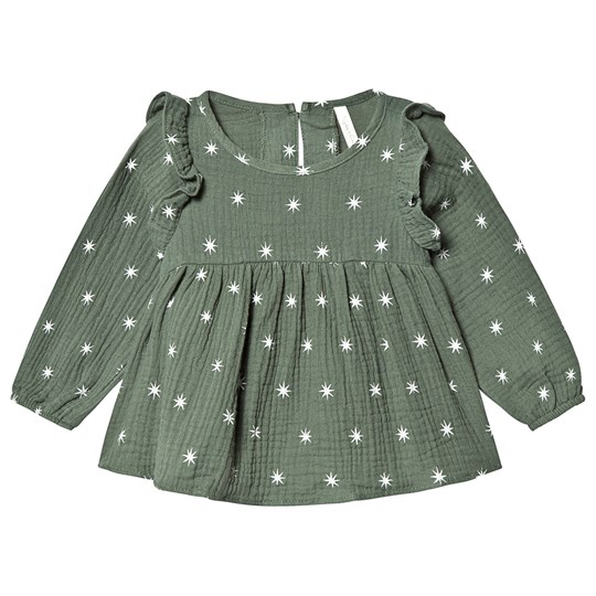 Rylee + Cru Northern Star Piper Blouse Spruce spruce