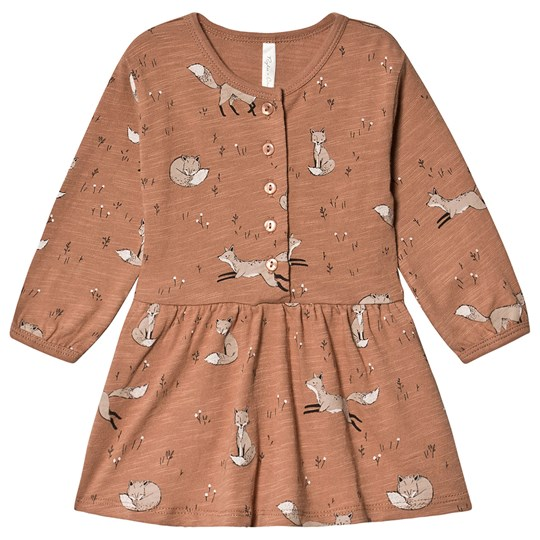 Rylee + Cru Winter Fox Button Up Dress Truffle TRUFFLE