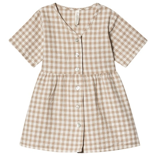 Rylee + Cru Gingham Jeanette Dress Grey/Ivory grey / ivory
