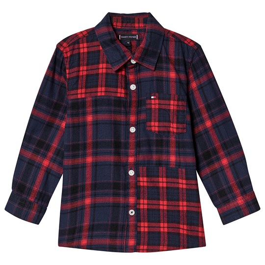 Tommy Hilfiger Check Shirt Navy and Red CBK