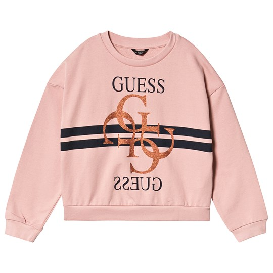 Guess Cropped Sweatshirt Pink and Gold SIPK