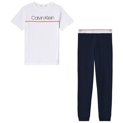 Calvin Klein Pyjama Set Navy and White
