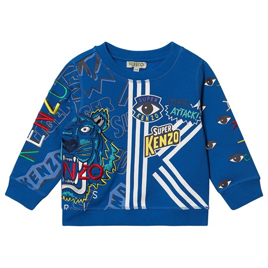 Kenzo Super Eye Tiger Sweatshirt Blue 50