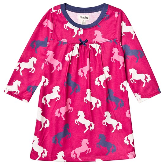 Hatley Playful Horses Night Dress Pink Pink
