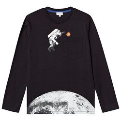 Paul Smith Junior Astronaut Print Tee Black