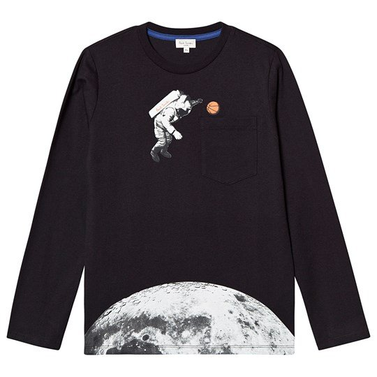Paul Smith Junior Astronaut Print Tee Black 02