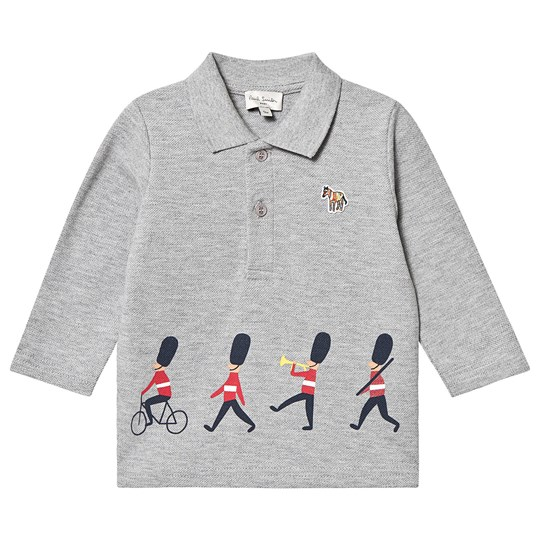 Paul Smith Junior Marching Soldier Print Polo Grey Marl 240
